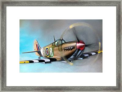 Spitfire  Framed Print by Riek  Jonker