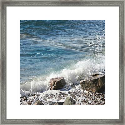 Splash Framed Print by Judy Palkimas