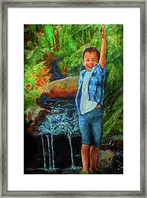 Splash Framed Print by Michael Durst