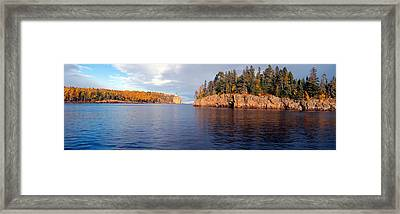 Split Rock Lighthouse From 1905, Lake Framed Print by Panoramic Images