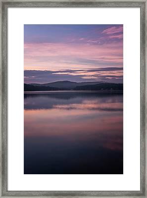Spofford Lake Sunrise Framed Print