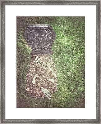 Spooky Grave Stones Framed Print