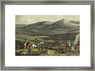 Sporting Meeting In The Highlands Framed Print by Henry Thomas Alken