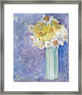 Spring Blossoms Framed Print by Jan Bennicoff