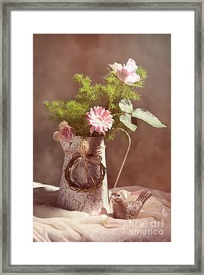 Spring Flower Arrangement Framed Print