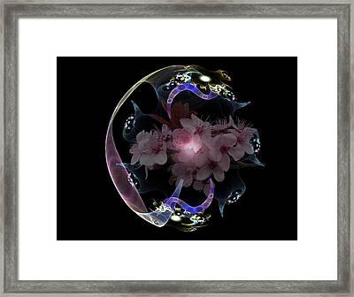 Spring Fractal Framed Print
