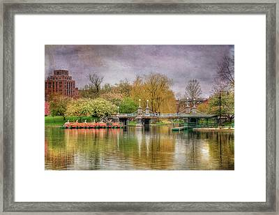 Framed Print featuring the photograph Spring In The Boston Public Garden by Joann Vitali