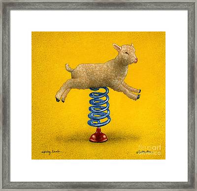 Spring Lamb... Framed Print by Will Bullas