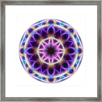 Spring Energy Mandala 2 Framed Print