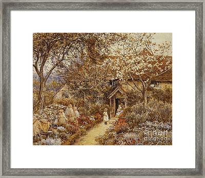 Springtime Framed Print by Helen Allingham