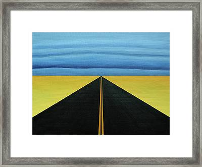 Squall Lines Framed Print