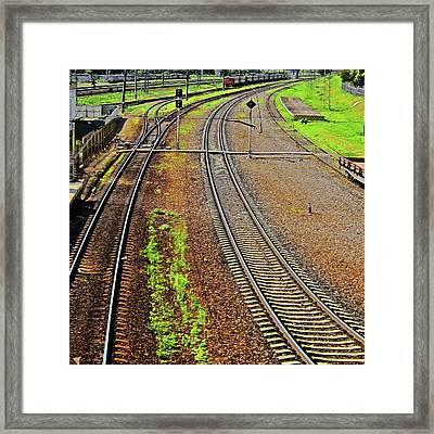 Square-texture. Framed Print