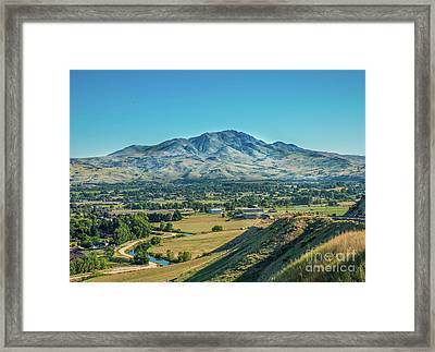 Squaw Butte Framed Print