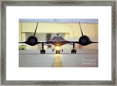 Sr-71 Blackbird, 1990s Framed Print by Science Source