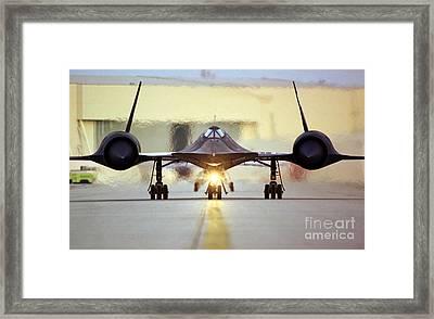 Sr-71 Blackbird, 1990s Framed Print
