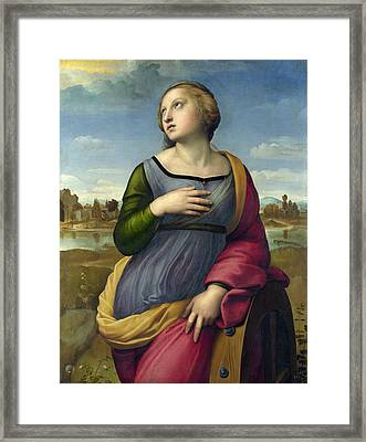 St. Catherine Of Alexandria Framed Print by Raffaello Sanzio