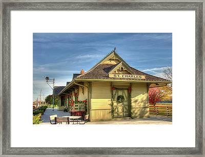 St. Charles Depot Framed Print