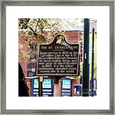 St. Charles Line Framed Print
