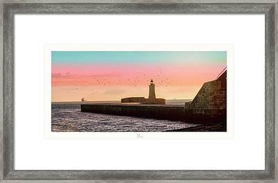St. Elmo Breakwater Footbridge Framed Print