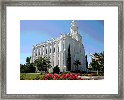 St George Utah Temple Framed Print