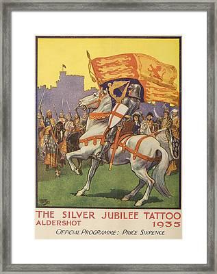 St George With Royal Standard & Shield Framed Print by Vintage Design Pics