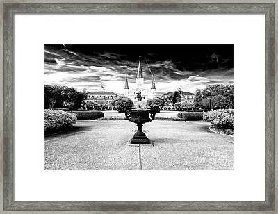 St. Louis Cathedral Drama Framed Print