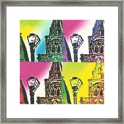 St. Louis Cathedral Pop  Framed Print by John Giardina