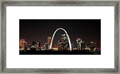St Louis Missouri Gateway Arch Art Framed Print