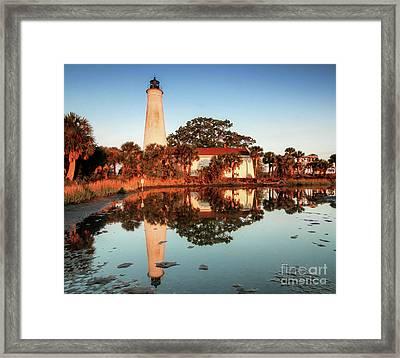 St Marks Lighthouse  Framed Print by Scott Moore