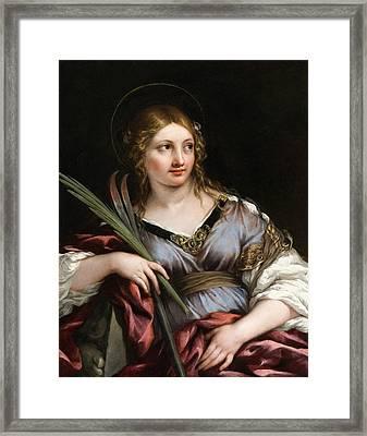 St. Martina Framed Print by Pietro da Cortona
