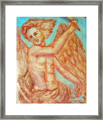 St. Michael The Archangel Framed Print by Suzanne Reynolds