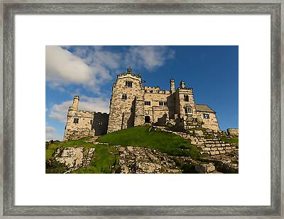 St Michaels Mount Marazion Cornwall England Uk Medieval Castle And Church On An Island  Framed Print