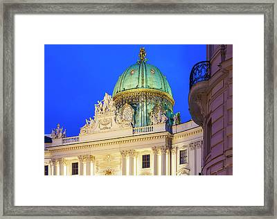 St. Michael's Wing Of Hofburg In Vienna Framed Print