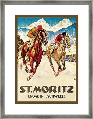 St. Moritz Framed Print by Hugo Laubi