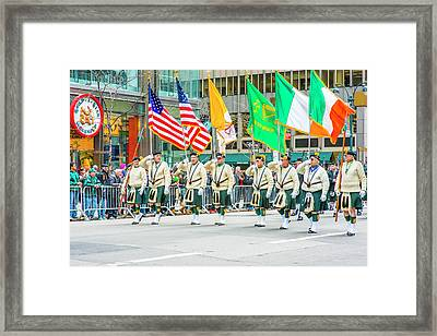 St. Patrick Day Parade In New York Framed Print