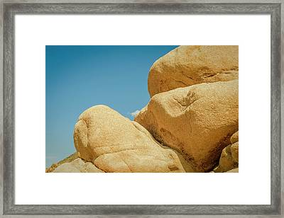 Stacked Boulders Joshua Tree Framed Print
