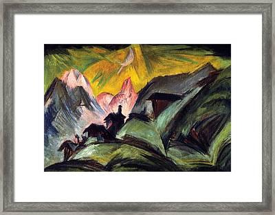 Stafelalp By Moonlight Framed Print by Ernst Ludwig Kirchner