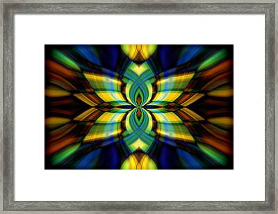 Stained Glass Framed Print by Cherie Duran