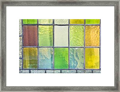 Stained Glass Framed Print by Tom Gowanlock