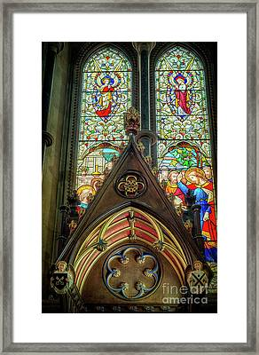 Stained Glass Window Framed Print by Adrian Evans