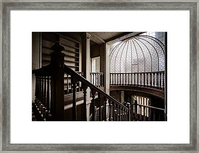 Dome Of Light - Abandoned Building Framed Print by Dirk Ercken