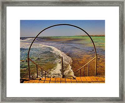Stairway To The Sea. Sea. Rusty Iron And Corals. Framed Print by Andy Za