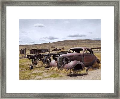 Framed Print featuring the photograph Stalled In Bodie by Gordon Beck