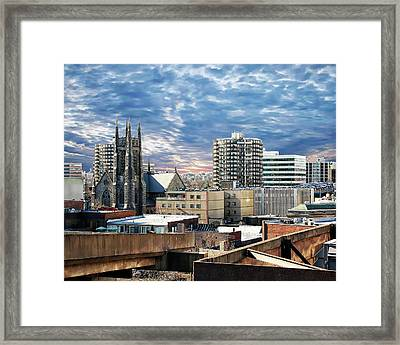 Stamford Cityscape Framed Print by Anthony Dezenzio
