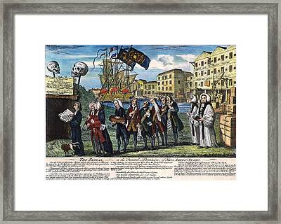 Stamp Act: Repeal, 1766 Framed Print
