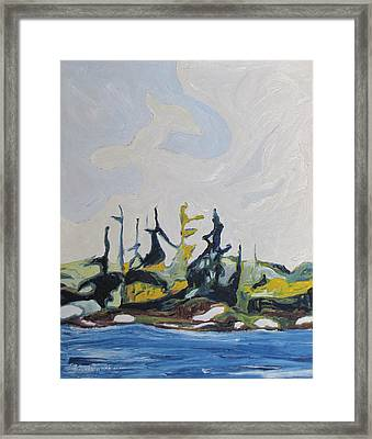 Standing By The River Framed Print