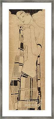 Standing Girl Framed Print by Egon Schiele