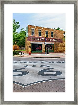Standing On The Corner - Winslow Arizona Framed Print