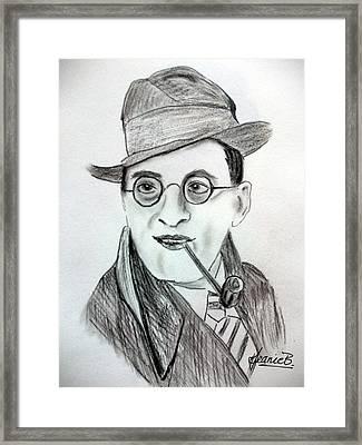 Stanley Holloway Framed Print by Jean Billsdon