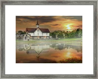 Star Barn Sunrise Framed Print